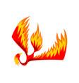 flaming phoenix bird mythical firebird vector image vector image