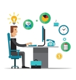 Flat design of office vector image