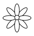 flower isolated icon design vector image vector image