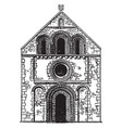 front of iffley church very few examples remain vector image vector image