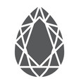 gem glyph icon jewelry and crystal diamond sign vector image