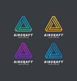 geometric logo design inspiration idea concept vector image vector image