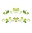 green border set vector image