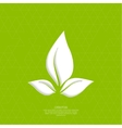 Green eco friendly background vector image vector image