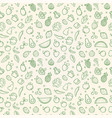 green food seamless pattern vegetable fruits vector image