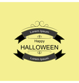 Halloween logo sign with ribbons and curls vector image vector image