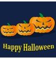 Halloween pumkin orange icons set vector image