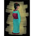 Hand drawn geisha set