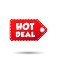 hot deal hang tag label on white background vector image vector image