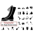icon set camping vector image