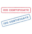iso certificate textile stamps vector image vector image