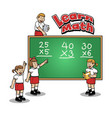 learn math at elementary school vector image