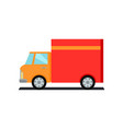 lorry truck worldwide warehouse delivering vector image vector image