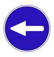 mandatory direction to the left vector image vector image