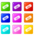 movie ticket icons 9 set vector image vector image