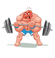 Muscle man funny cartoon and character vector image