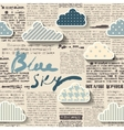 Newspaper with clouds vector image vector image