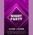 night party flyer template design vector image vector image