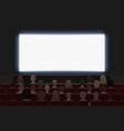 people watching movie at cinema hall interior vector image vector image