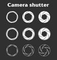 photographer camera shutter icons vector image