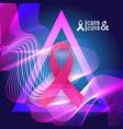 pink ribbon breast cancer awareness banner vector image
