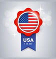 ribbon award flag united states design vector image vector image