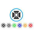 searchlight rounded icon vector image
