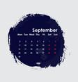 september 2019 calendar templatestarts from vector image