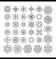 Set of contour linear flowers vector image vector image