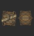 set of labels western style vector image vector image