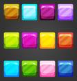 Shiny button vector image vector image