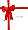 Shiny red ribbon background vector image vector image