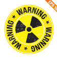 Stamp sticker Nuclear collection - - EPS10 vector image vector image