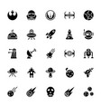 star wars glyph icon pack vector image