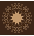 Stylized Oriental Lace Brown ColorOriental vector image vector image