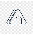 tent concept linear icon isolated on transparent vector image