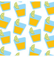 tequila shot with lime slice drink liquor mexican vector image