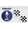 The moves of the chess bishop vector image vector image