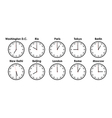 timezones vector image