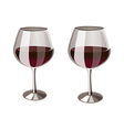 Two glass of wine vector image vector image