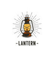 vintage hand-drawn lantern concept perfect for vector image vector image