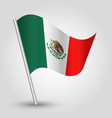 waving simple triangle mexican flag vector image vector image