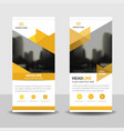 yellow triangle business roll up banner design vector image vector image