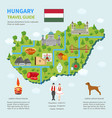 infographic map of hungary vector image