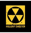 Fallout Shelter Vintage Nuclear Symbol vector image