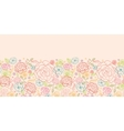 Pink roses horizontal seamless pattern background vector image