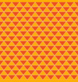 abstract triangles vintage orange background vector image