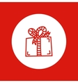 hand drawn Christmas icon red line isolated in vector image