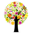 Abstract flowers tree vector | Price: 1 Credit (USD $1)