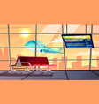 airport terminal with flight schedule vector image